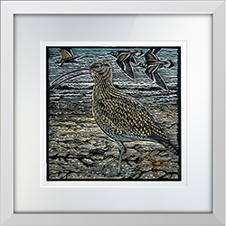 Golden Plovers in Winter Print